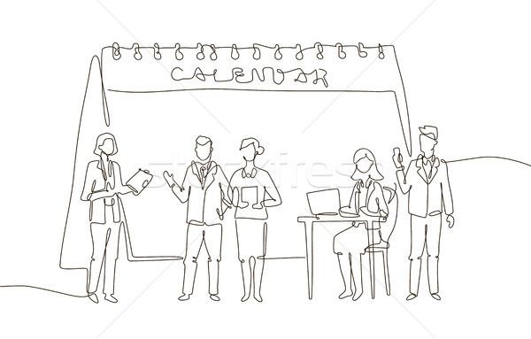 商務會議 一 線 設計 風格 插圖 商業照片 © Decorwithme