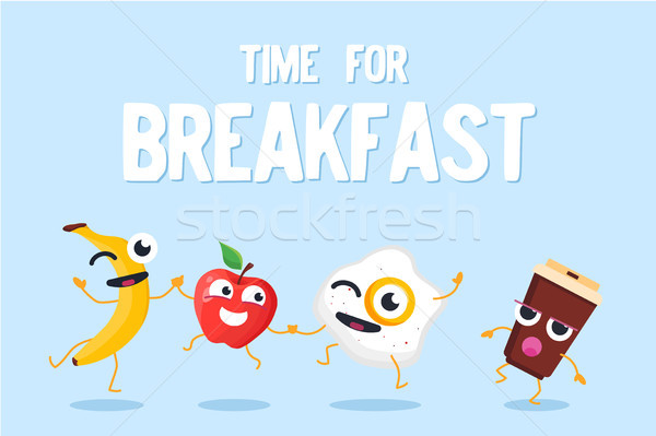 Time for breakfast - modern vector colorful illustration Stock photo © Decorwithme