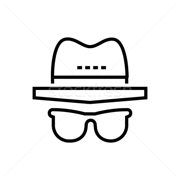 Incognito - line design single isolated icon Stock photo © Decorwithme