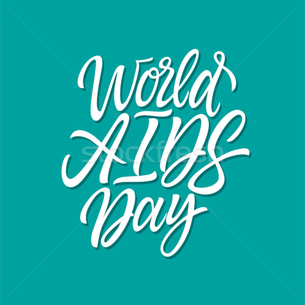 World AIDS day - vector hand drawn brush pen lettering Stock photo © Decorwithme