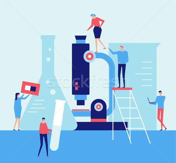 Laboratory - flat design style illustration Stock photo © Decorwithme
