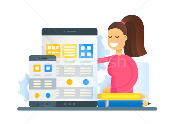 ウェブ 最適化 デザイン ウェブサイト バナー ストックフォト © Decorwithme
