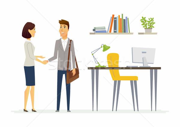 Productivo negocios comunicación colegas moderna Foto stock © Decorwithme