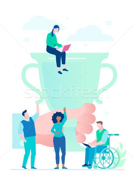 Negócio sucesso projeto estilo colorido ilustração Foto stock © Decorwithme