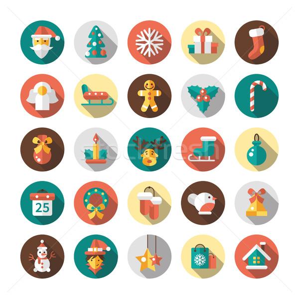 Set Natale buon anno design vettore Foto d'archivio © Decorwithme