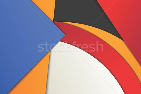 Illustration insolite modernes matériel design vecteur Photo stock © Decorwithme