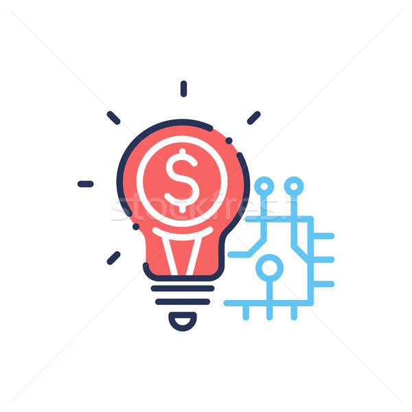 Innovation modernes vecteur ligne design icône Photo stock © Decorwithme