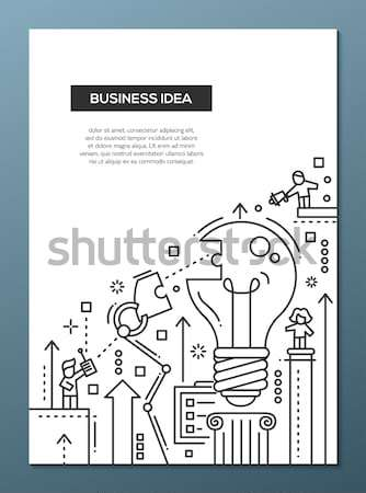 Business Idea - line design brochure poster template A4 Stock photo © Decorwithme