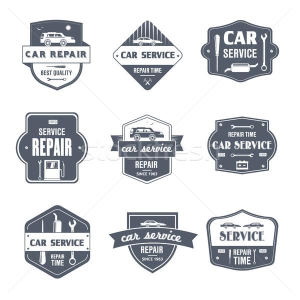 Car Repair - vintage vector set of logos Stock photo © Decorwithme