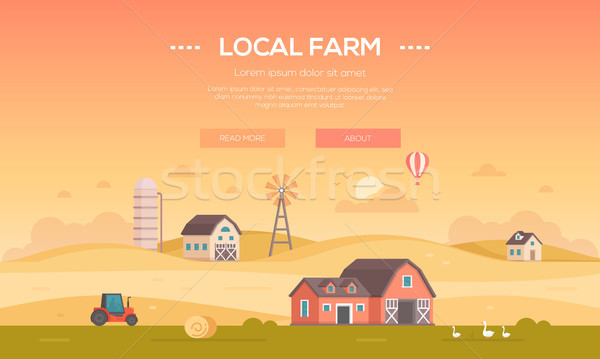 Locale ferme modernes design style orange Photo stock © Decorwithme