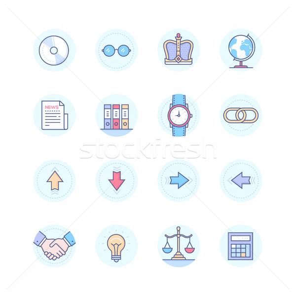 Stock fotó: üzlet · fogalmak · modern · vonal · terv · stílus
