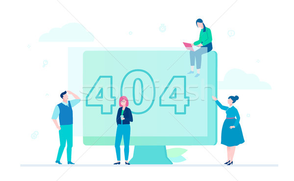 Error 404 page - flat design style colorful illustration Stock photo © Decorwithme