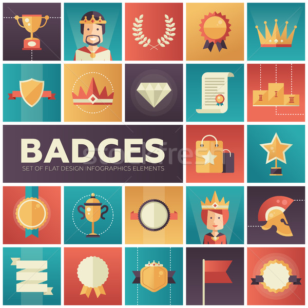 Badges moderne vector Stockfoto © Decorwithme