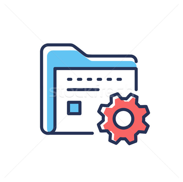 Data Management - modern vector line design icon. Stock photo © Decorwithme