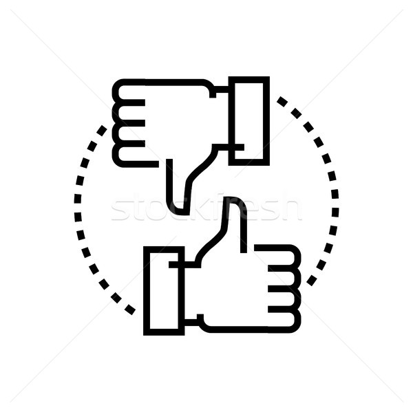 Like and dislike - line design single isolated icon Stock photo © Decorwithme