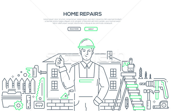 Home repair - line design style illustration Stock photo © Decorwithme