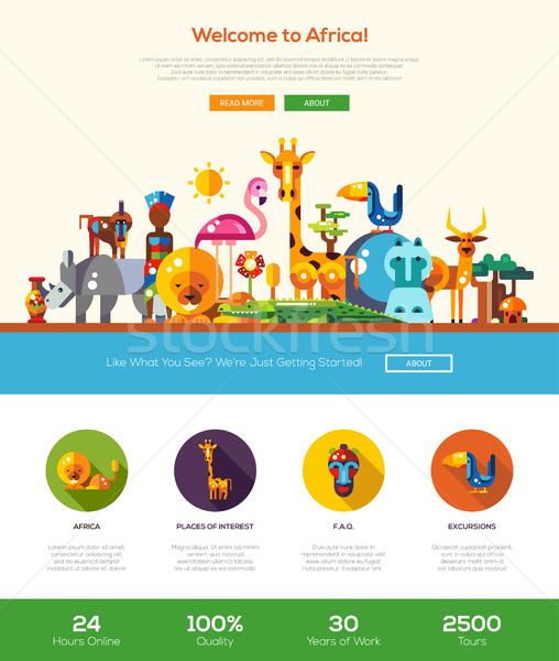 Африка сайт баннер веб-дизайн Сток-фото © Decorwithme