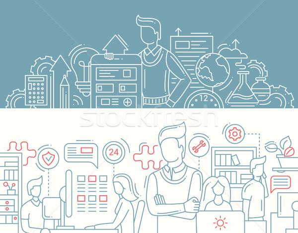 商業照片: 業務 · 工具 · 上班族 · 線 · 設計 · 橫幅
