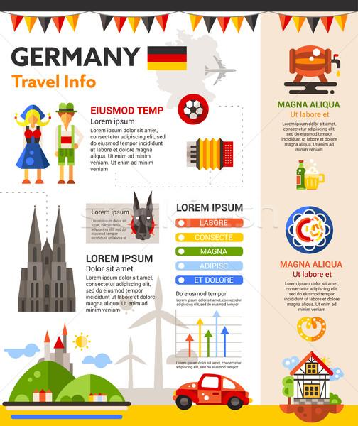 Germania viaggio info poster brochure coprire Foto d'archivio © Decorwithme