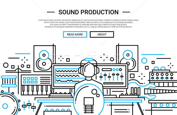 Sound Production - website header banner template Stock photo © Decorwithme