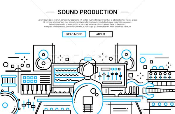 Dźwięku produkcji stronie banner szablon Zdjęcia stock © Decorwithme