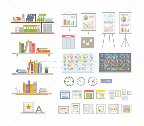 Photo stock: Bureau · modernes · vecteur · couleur · différent