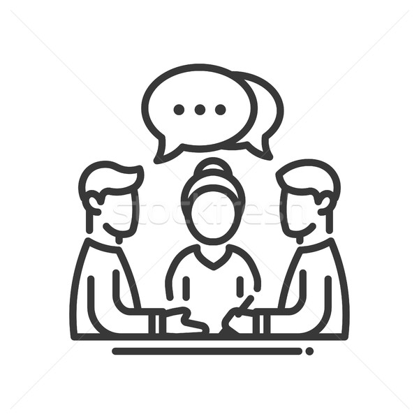 Business meeting single icon Stock photo © Decorwithme
