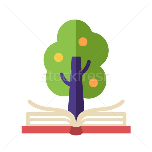 Lernen Wissen Design Symbol isoliert modernen Stock foto © Decorwithme