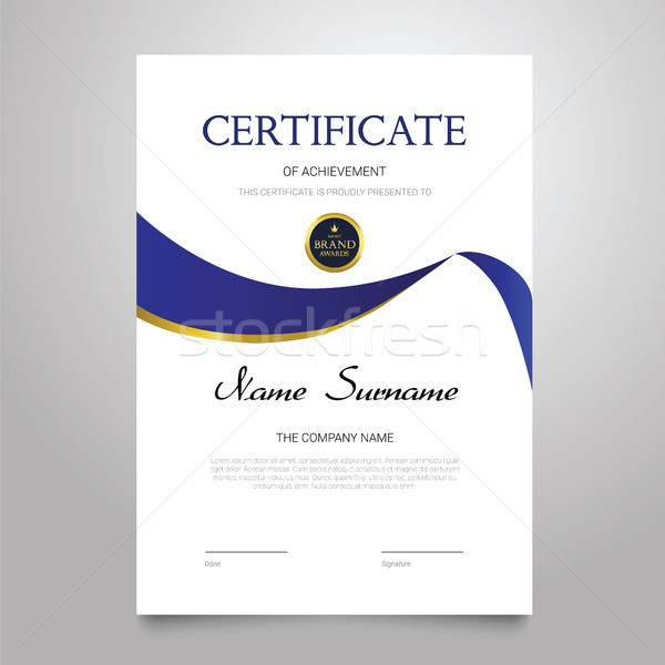 Certificate Template - vertical elegant vector document Stock photo © Decorwithme
