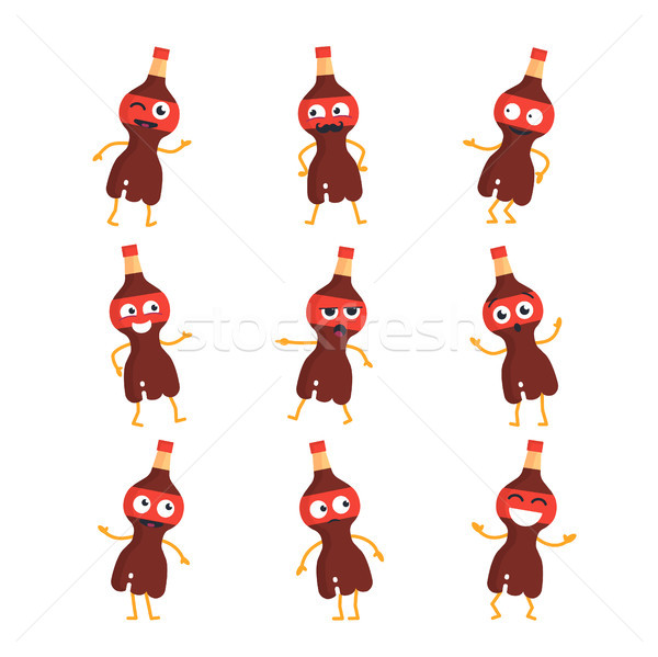 Soda Drink - vector set of mascot illustrations. Stock photo © Decorwithme