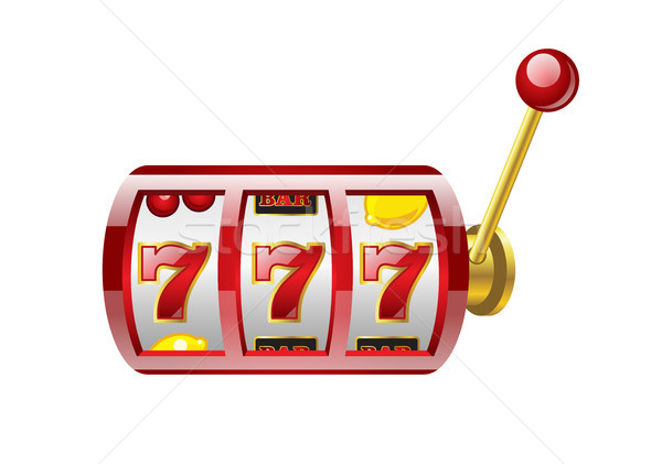 Red 777 slot - modern vector isolated illustration Stock photo © Decorwithme