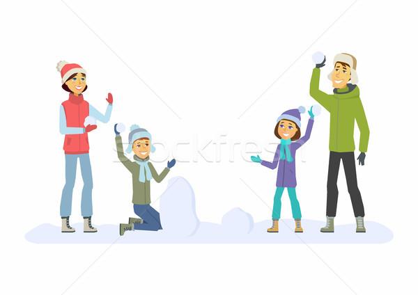 幸せな家族 実例 白 ストックフォト © Decorwithme