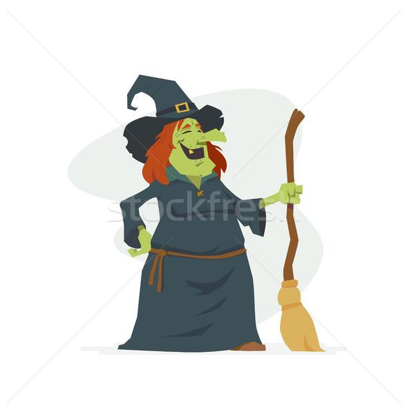 Stok fotoğraf: Cadı · yalıtılmış · örnek · beyaz