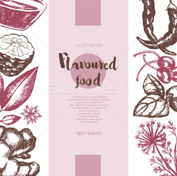 Flavoured Products - vector hand drawn banner. Stock photo © Decorwithme