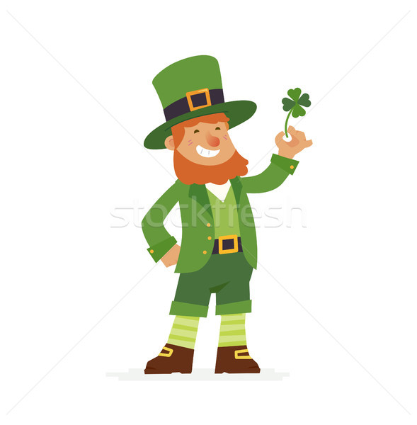 Saint Patrick - modern vector cartoon people characters illustration Stock photo © Decorwithme