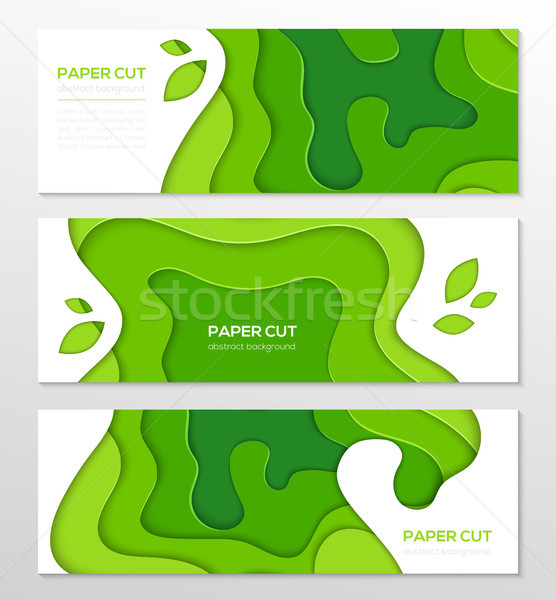 Gras groene abstract lay-out ingesteld moderne Stockfoto © Decorwithme