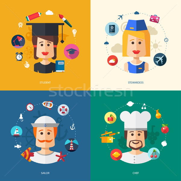 Illustration design affaires illustrations personnes professions Photo stock © Decorwithme
