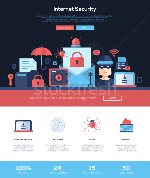 Internet veiligheid diensten website banner Stockfoto © Decorwithme