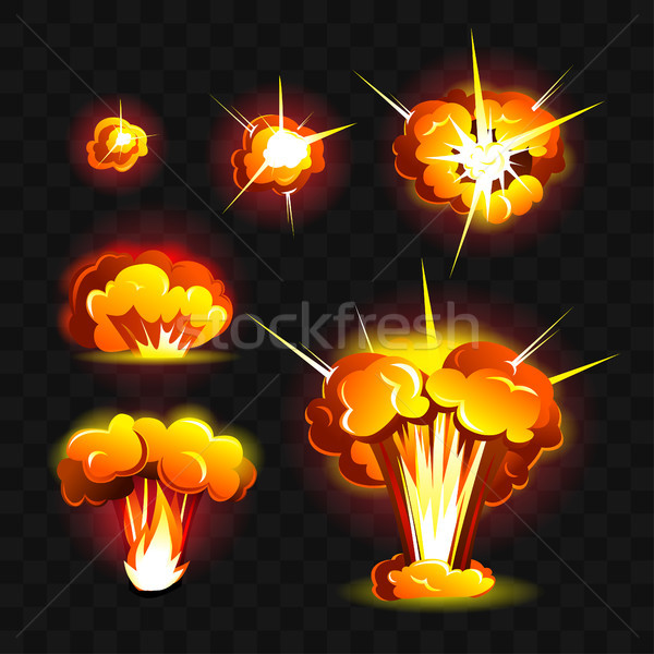 Big explosion - modern vector realistic isolated clip art Stock photo © Decorwithme