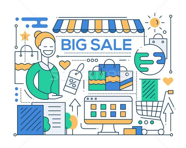 Big Sale - line design composition Stock photo © Decorwithme