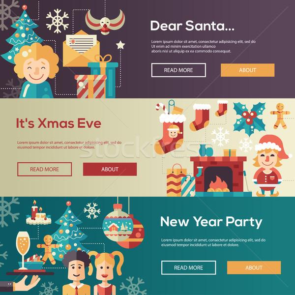 Stok fotoğraf: Noel · dizayn · web · sitesi · afişler · örnek · ayarlamak