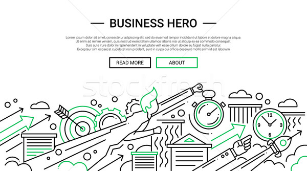 Business Hero - line design website banner temlate Stock photo © Decorwithme