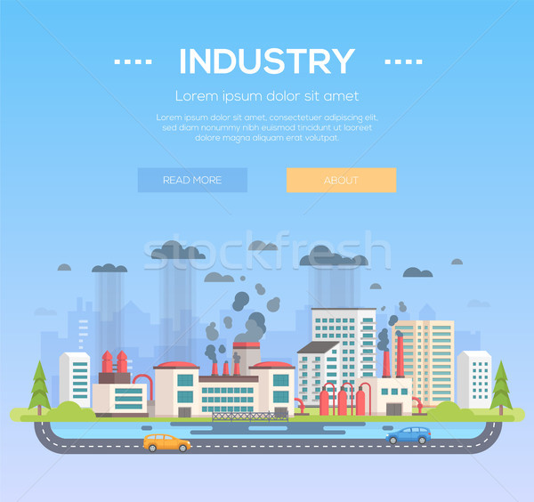 Industry - modern flat design style vector illustration Stock photo © Decorwithme