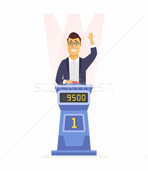 Game show player - cartoon people character isolated illustration Stock photo © Decorwithme