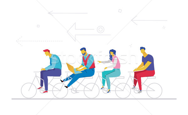 Business team - flat design style colorful illustration Stock photo © Decorwithme
