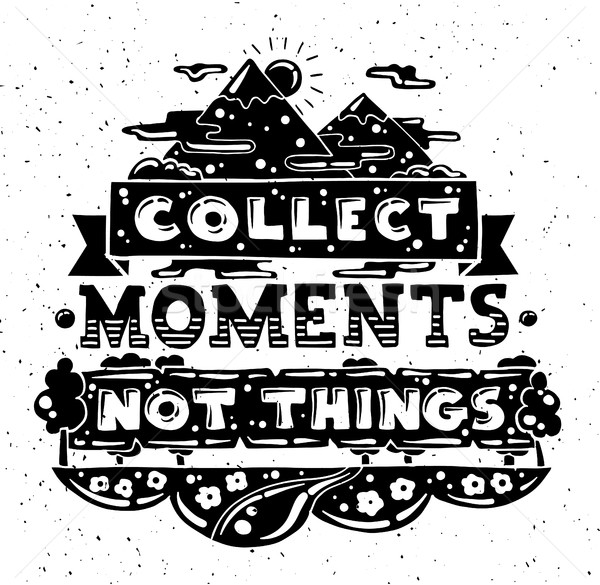 Modern flat design hipster illustration with quote phrase Collec Stock photo © Decorwithme