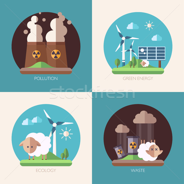 Moderne ontwerp ecologisch illustraties vector water Stockfoto © Decorwithme