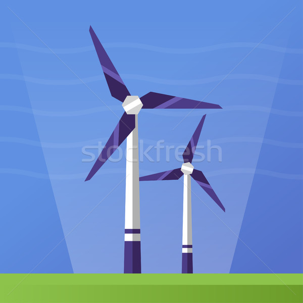 Wind Power - flat design single icon Stock photo © Decorwithme