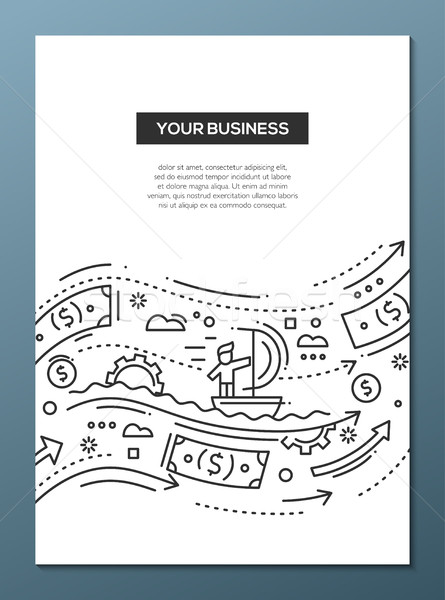 Stock photo: Your Business - line design brochure poster template A4