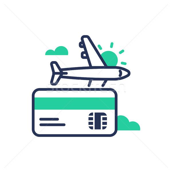 Travel - modern single vector line design icon. Stock photo © Decorwithme